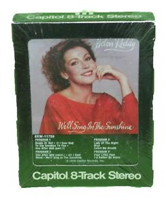 Helen-Reddy-8-Track-Tape-Cartridge-We-039-ll-Sing-in-the-Sunshine-1978-Rock-New-NOS