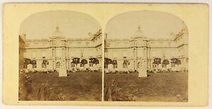 Palais Lussemburgo il Senato Foto Stereo PL55L4n Vintage Albumina c1875