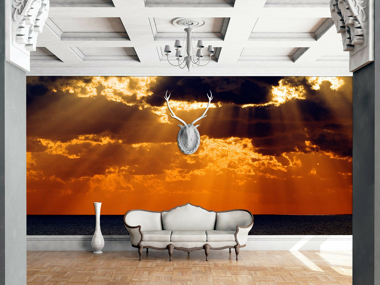 3D Sunlight Cloud Sea 5 Wall Paper Wall Print Decal Wall Deco Indoor Mural Lemon