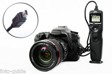 JYC Kabel Fernauslöser mit Timer passt kompatibel mit Nikon MC-DC2