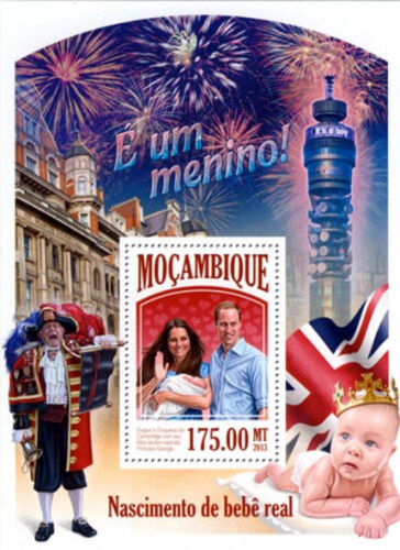Mocambique - Birth Of Prince George - William And Kate Stamp Souvenir Sheet MNH