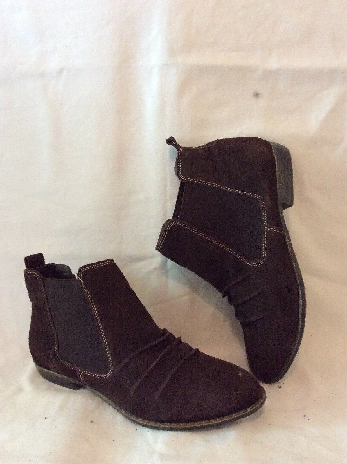 Odeon Brown Ankle Suede Boots Size 5