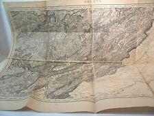 Ornans 127, Plan carte d' état-major, révisée 1893 1895 en bon état