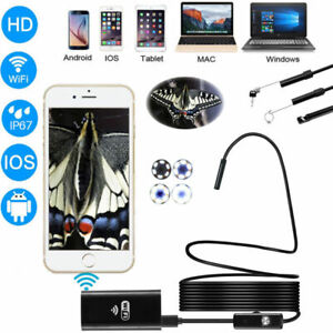 Details about WiFi APP Endoscope HD CMOS 2MP Camera Depstech Borescope + 5M  Shadow line