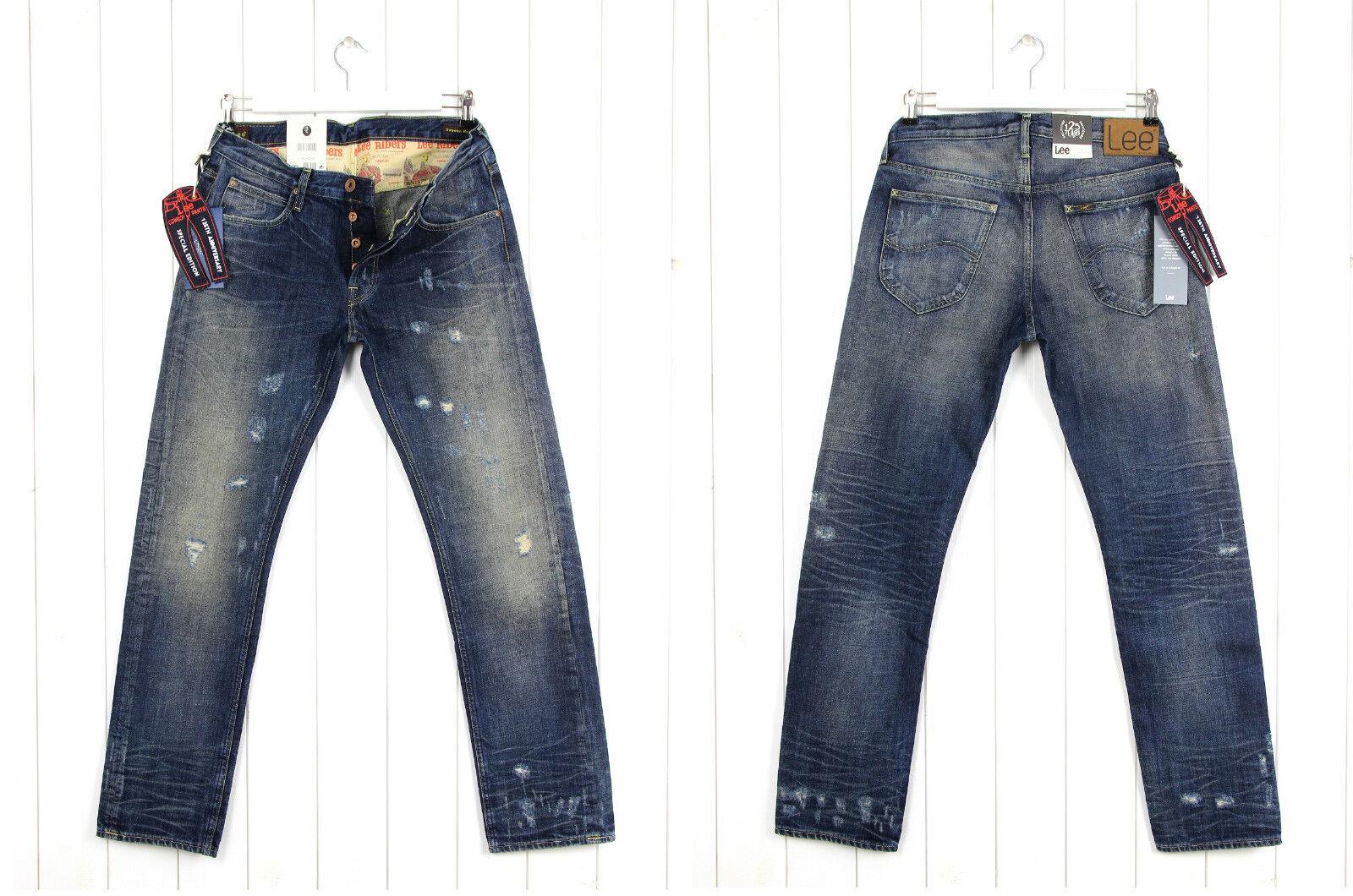 Neu Lee X Donwan Harrel Prps Daren Getönt Jeans Regulär Enge Passform 101