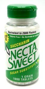 10-1000-Tablet-Bottles-1-Grain-Necta-Sweet-Saccharin-Tablets-NectaSweet