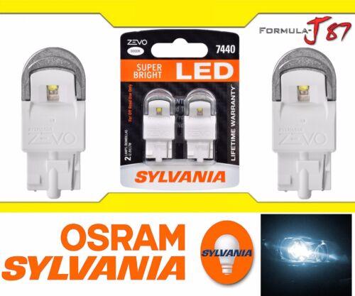 Sylvania ZEVO LED Light 7440 White 6000K Two Bulbs Stop Brake Tail Replace Lamp