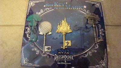 ~2012 Walt Disney World Your Key To the Magic Passholder Trading Pin Set!