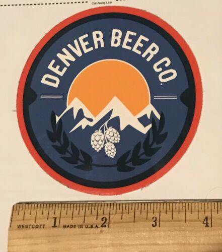 DENVER BEER COMPANY BREWERY STICKER Colorado Brew Brewing Decal CO Logo Decal