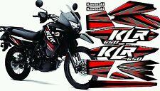 Kawasaki KLR 650 2014 stickers decals graphic kit red