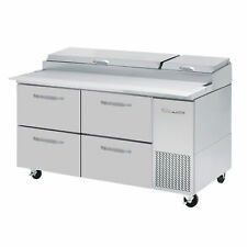 Blue Air Bapp67 D4 Hc 67 4 Drawer Refrigerated Pizza Prep Table 9 Pan