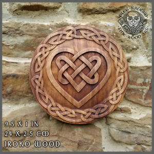 Image Is Loading Celtic Heart Knotwork Viking Home Decor Art Norse