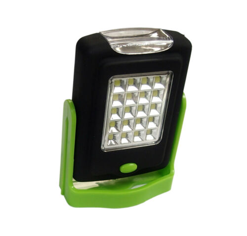 Portable 23 LED mini Flashlight and Work Light lamp with Magnet /& Rotating Hook