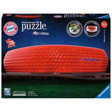 RAVENSBURGER 3D Puzzle Allianz Arena bei Nacht FC Bayern Erwachsenenpuzzle 216 T