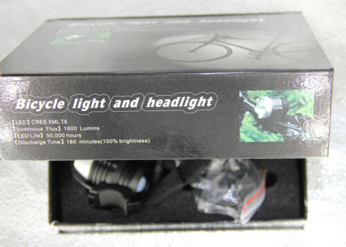 2 in 1 High Power LED 1800 Lm Headlamp Bicycle Lamp Bike//Cycle Light
