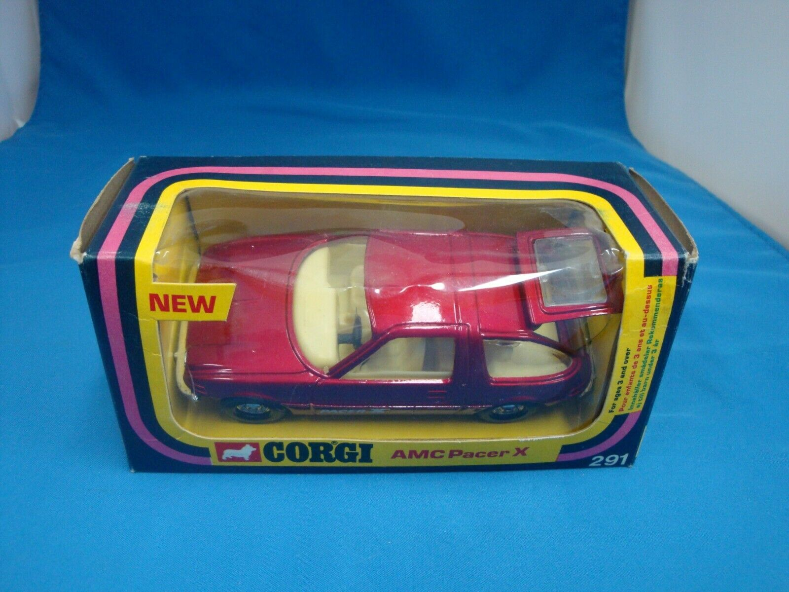 Corgi  291 AMC Pacer X New In Original Box , 1976 Mettoy Company