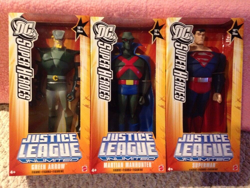 DC Super Heroes Justice League Unlimited Green Arrow Martian Manhunter Superman