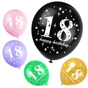 10pcs 18 Years Old Latex Balloons Happy Birthday Party Supplies Decorations
