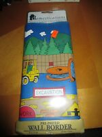 Domestications Pre-pasted Boys Wall Border excavation Design 9x 5yds Nip