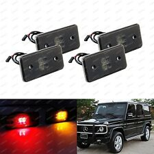 Smoked Lens Front & Rear LED Side Marker Lights SET: 02-14 Mercedes W463 G-Class