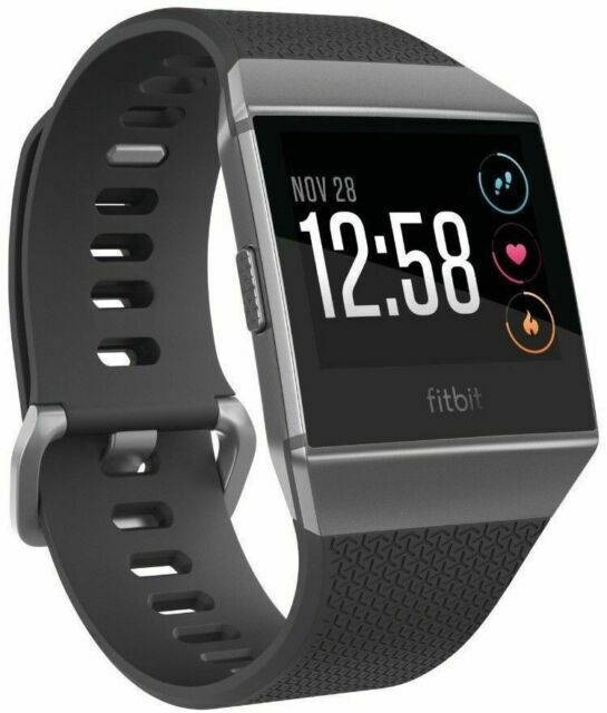 Fitbit Ionic Bluetooth Activity Tracker - Charcoal/Smoke Gre