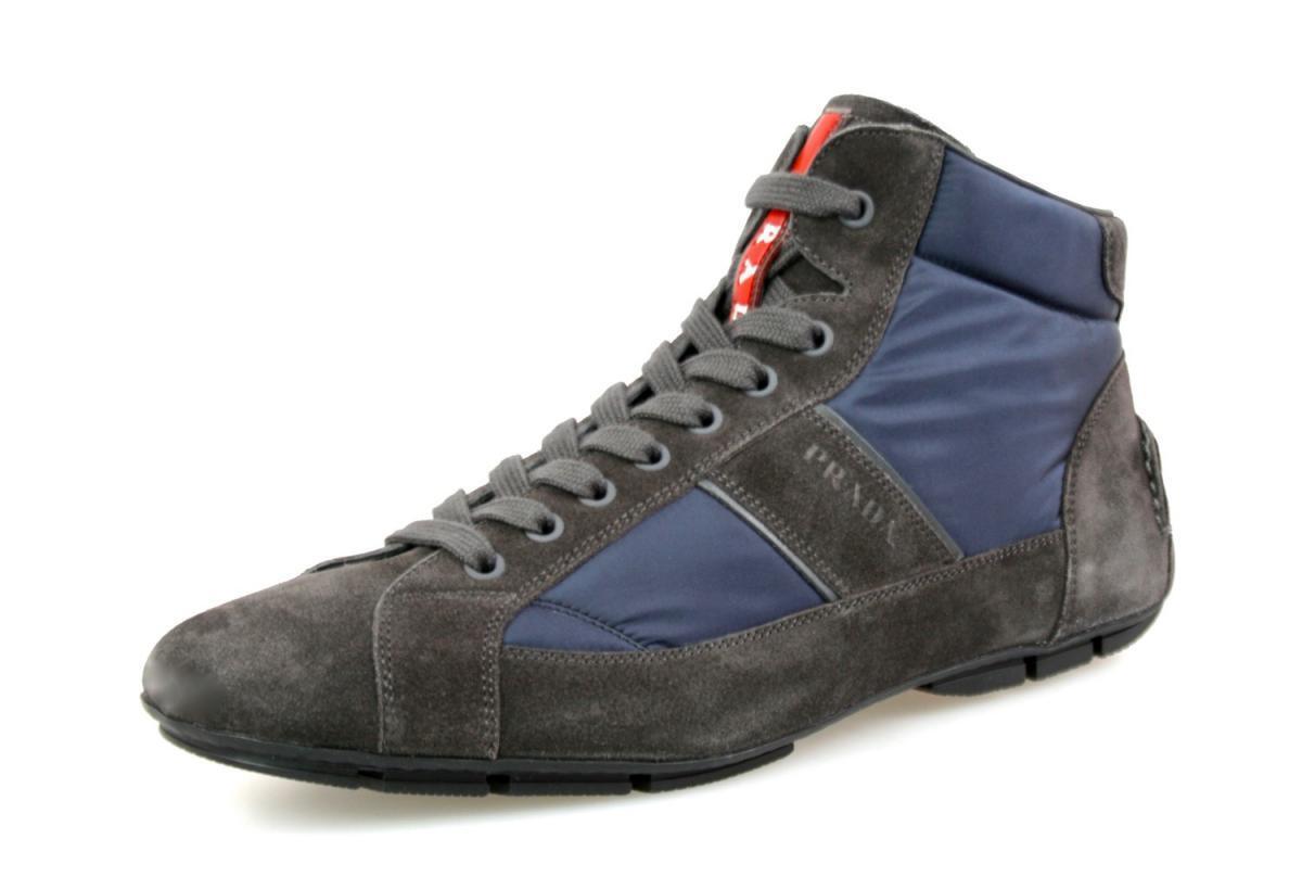 shoes PRADA LUXUEUX 4T2924 ASFALTO blue NOUVEAUX 7 41 41,5