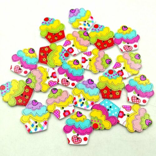 Cupcake buttons for sewing or crafting Cupcake craft embellishments cake gifts