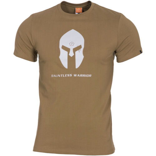 Pentagon Ageron T-Shirt Spartan Helmet Tactical Military Cotton Army Top Coyote