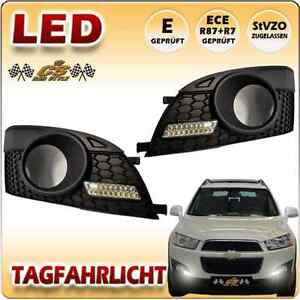 chevrolet captiva led tagfahrlicht set chrom im gitter neu ebay. Black Bedroom Furniture Sets. Home Design Ideas