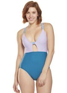 Speedo Women's Swimwear Blue Size Small S Strappy Isla One Piece $84 #310