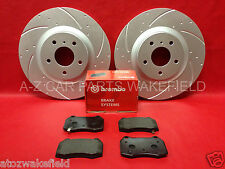 For Nissan 350z 350 z + roadster G35 front grooved brake discs Brembo pads TX066