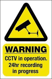 CCTV-Autocollant-De-Fenetre-Camera-De-Surveillance-Sigle-Avertissement