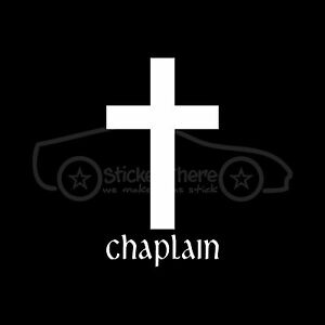 CHAPLAIN-CROSS-Sticker-Decal-Minister-Priest-Pastor-Hospital-Prison-Military-Lay