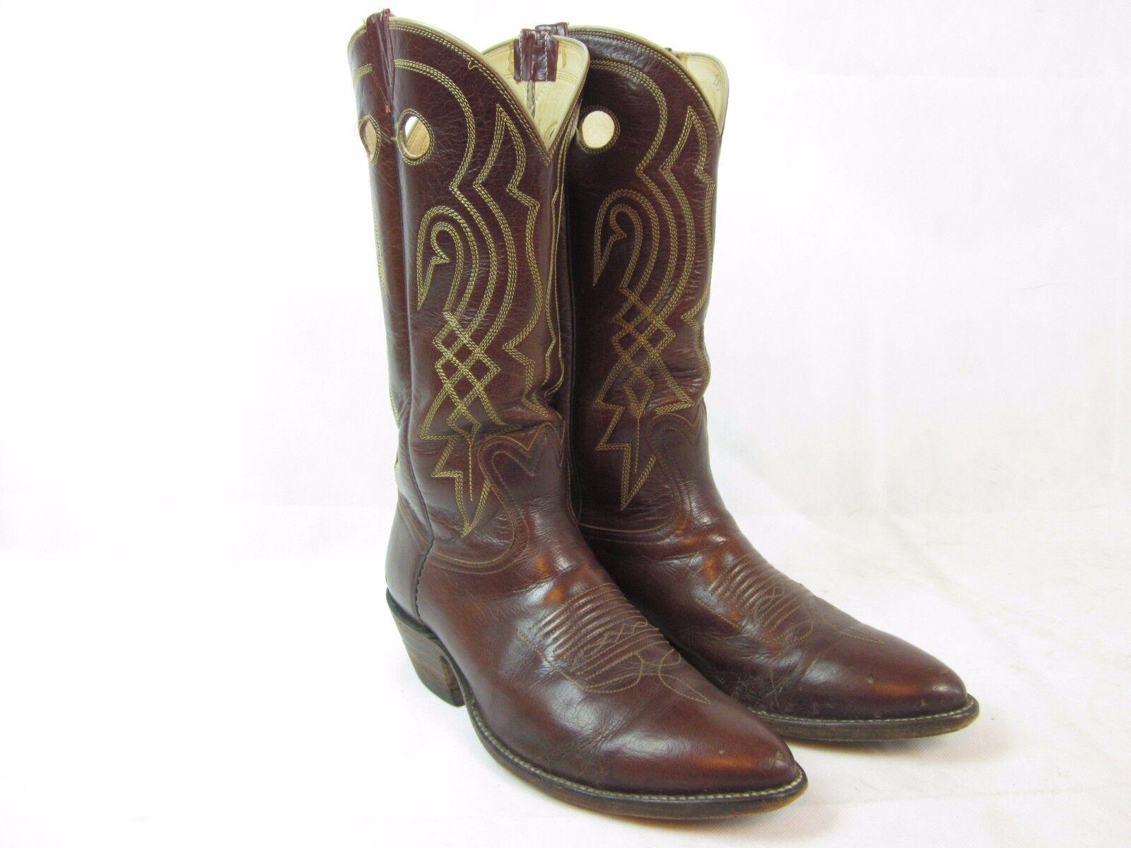BOWhomme Wilson démarrage Company Marron Western Cowboy bottes Homme 10.5