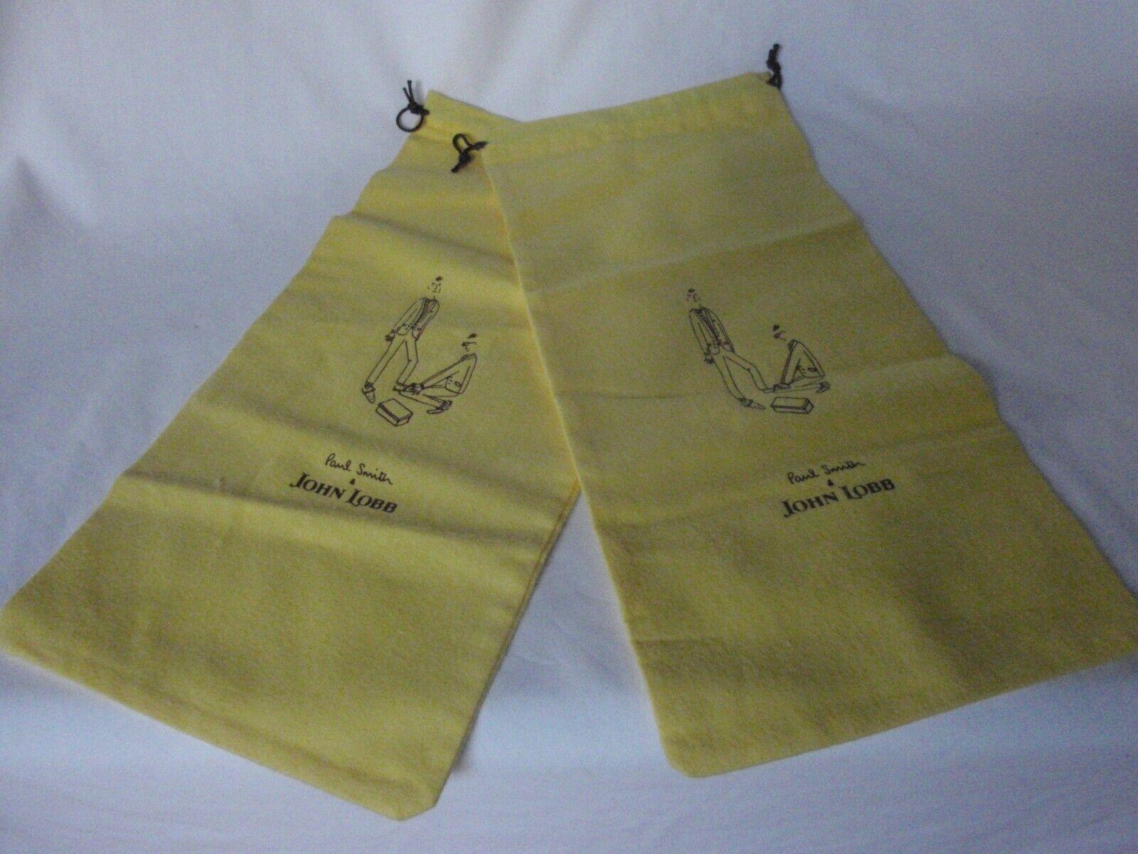 Mens John Lobb for Paul Smith Cotton Shoebags Shoes Dustbags Sleeper Bags 1 pair