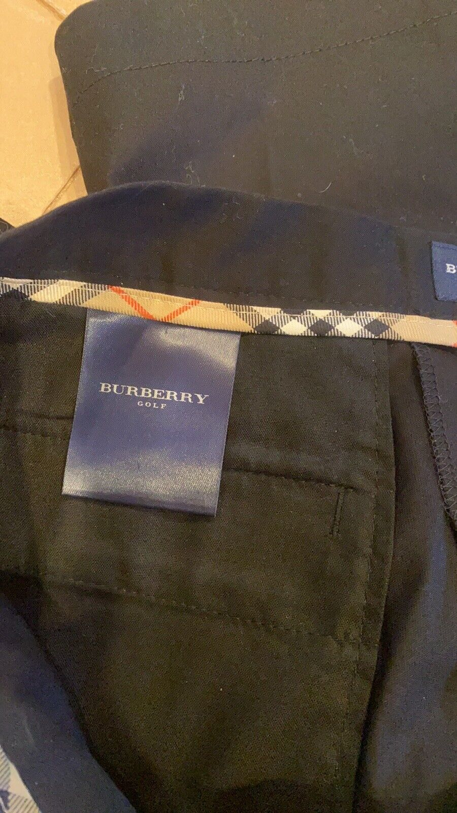 BURBERRY GOLF FABULOUS SHORTS TAILORED BLACKWITH … - image 8