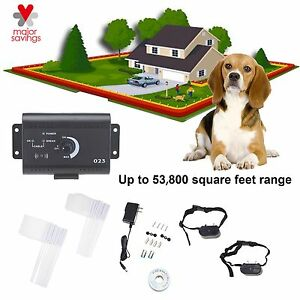 Electric-Dog-Fence-System-Waterproof-Shock-Collars-For-2-Dogs-Audio