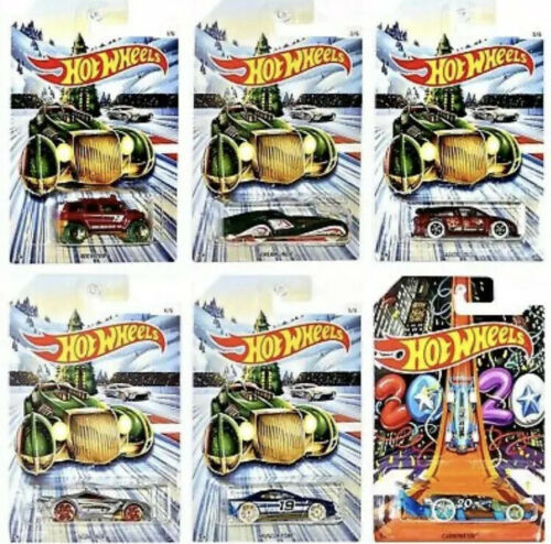 Hot Wheels HOLIDAY 2020 Lot of 6 Features the 2020 CARBONATOR