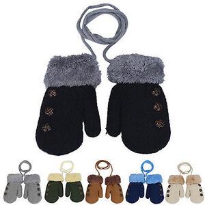 New Snow Flower Winter Warm Toddlers Girl/Boy Baby Kids knitting Gloves Mittens
