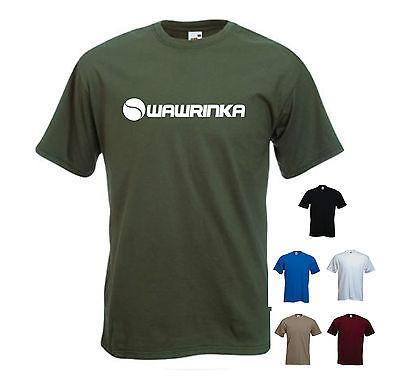 """""""wawrinka"""" Stan Wawrinka Tennis / Wimbledon T-shirt Tee-mostra Il Titolo Originale Sangue Nutriente E Regolazione Dello Spirito"""
