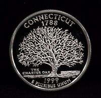 1999 S State Quarter Connecticut Deep Cameo Proof Uncirculated 90% Silver Coin