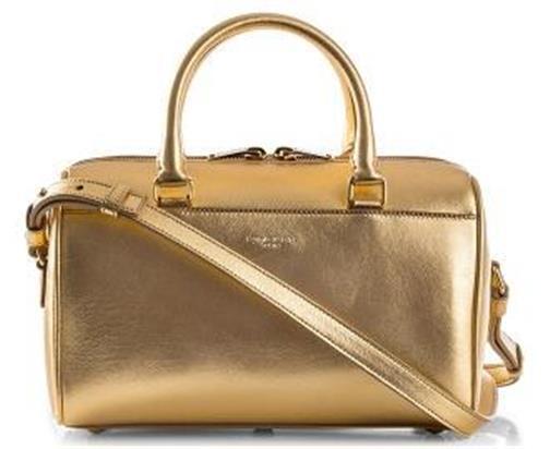 694e5b0983 YSL Yves Saint Laurent Metallic Gold Leather Duffle Toy Crossbody Bag for  sale online