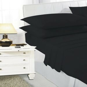 4-Foot-Small-Double-Plain-Dyed-Fitted-Bed-Sheet-or-Pillow-Cases-in-20-Colors