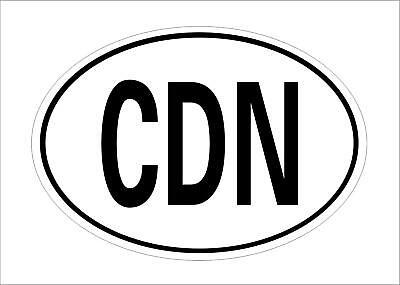 CDN Canada Country Code Oval Sticker Decal Canadian Car Bumper Decor Hot Sale