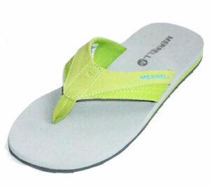 Merrell-Women-039-s-Cedrus-Flip-Flop-Lime-Citron-New