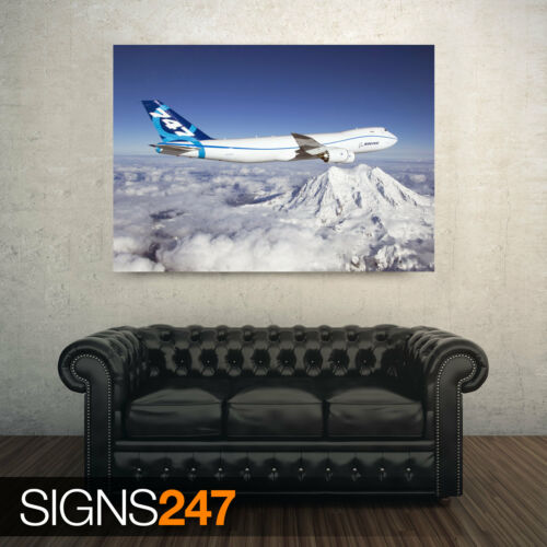 AA027 BOEING 747 AIRCRAFT POSTER Photo Picture Poster Print Art A0 to A4