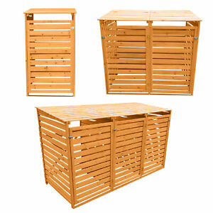 Details About Outdoor Wheelie Bin Storage Double And Triple Shed Wooden Dustbin Rubbish Screen