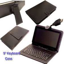 "9"" PU LEATHER  KEYBOARD CASE COVER for Go Clever GoClever Tab A93.2 Tablet"