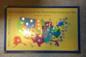 First State Quarters of the United States Collection Map (Complete ...