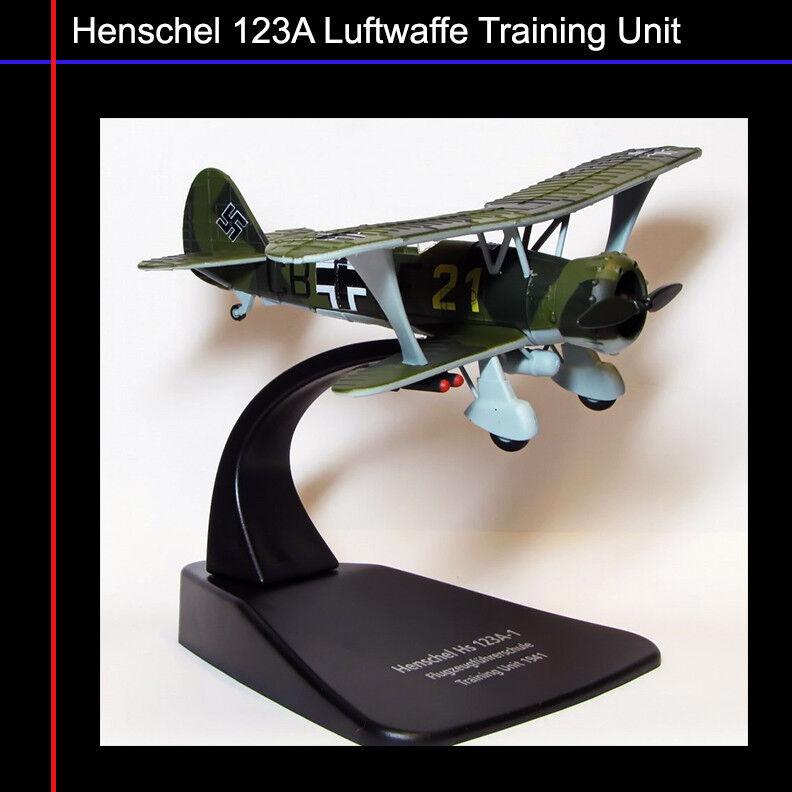 Oxford Aviación - 1 1 1 72 AC040 123A-1 de la segunda guerra mundial Henschel Luftwaffe biplano Buceo Bomber 2c830e